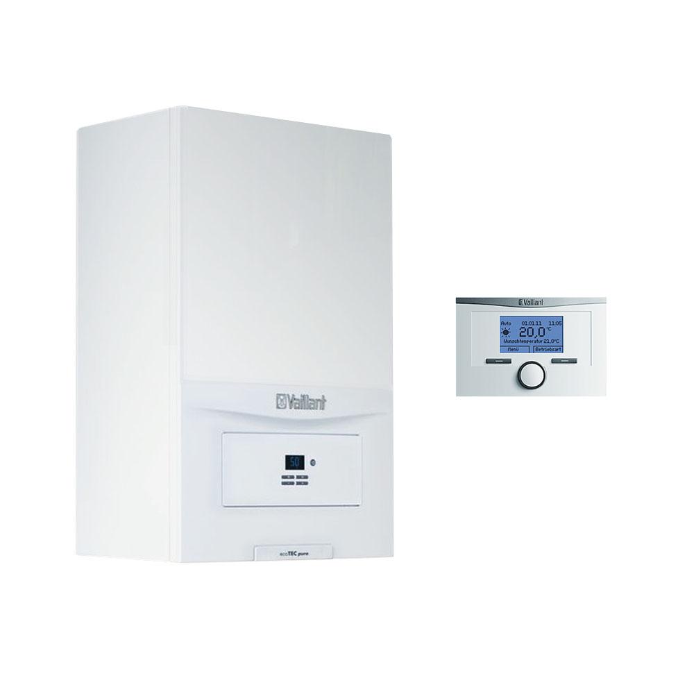Piec gazowy dwufunkcyjny Vaillant ecoTEC pure 7,2-24,4kW regulator pokojowy